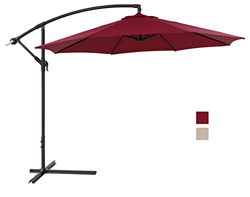 finnhomy canopy patio umbrella sturdy 8 ribs 10 ft large strong aluminum pole uv resistant 250. Black Bedroom Furniture Sets. Home Design Ideas