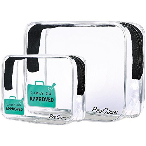 Procase Tsa Approved Clear Travel Toiletry Bag Quart Size