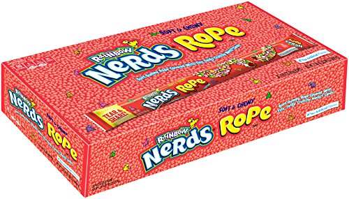 Nerds Rope Rainbow Candy, 0.92 Ounce Package Pack Of 24