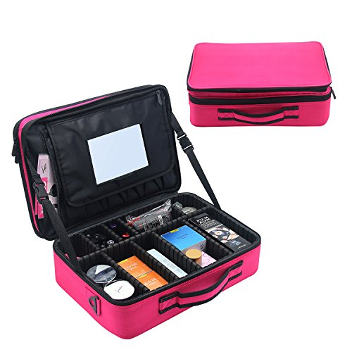 8bba9c9b960703 The tidy and fine close stitching ensure the Makeup Organizer bags are  sturdy and durable. Durable with water proof, shake proof, ...
