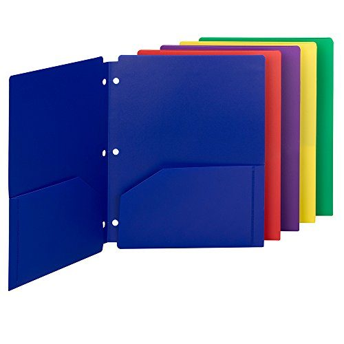 Smead Poly Snap-In Two-Pocket File Folder, Letter Size