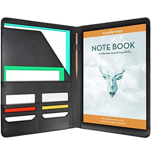 wundermax padfolio portfolio leather folder business